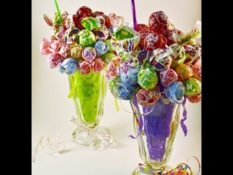 Edible Candy Bouquet Lollipop Malt How-to Video | RadaCutlery.com