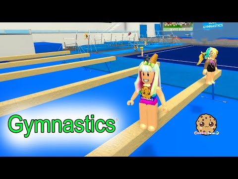 Gymnastics + Rollerskating ! Let's Play Roblox Fun Video Games