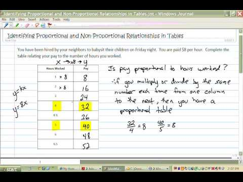 Identifying Proportions in Tables
