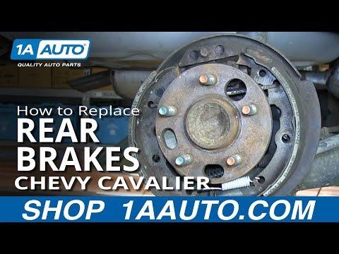 How To Replace Do a Rear Brake Job 2000-05 Chevy Cavalier Pontiac Sunfire