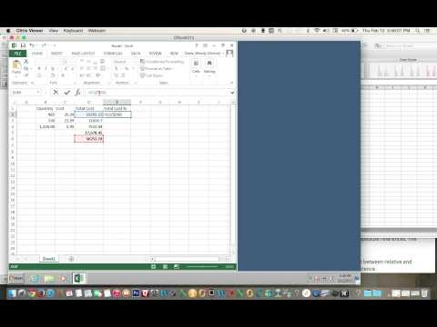 How to Calculate the Percentage Using Absolute Value in Excel 2013