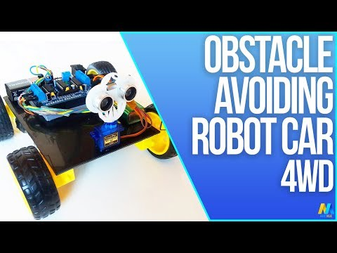 Arduino Project - Obstacle Avoiding Robot 4WD with Source Code