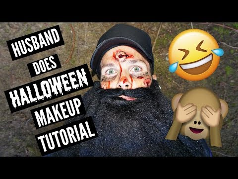 HUSBAND DOES HALLOWEEN MAKEUP TUTORIAL