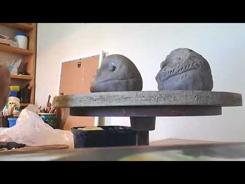 Clay ceramic sculpting baby owl with Lee-Anne Peters