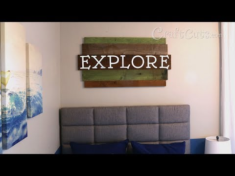 Explore Reclaimed Wood Sign - DIY