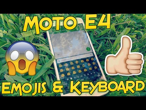 Metro PCS Moto E4 Emojis & Keyboard Tour