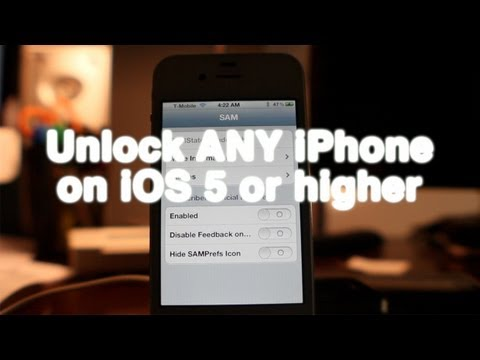 How to unlock any jailbroken iPhone on iOS 5 or later using SAM (include iPhone 4S)