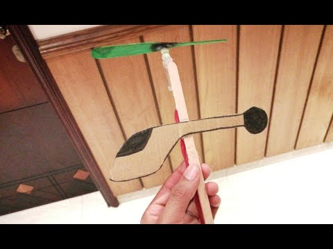 How to make a rubber band powered helicopter| How to make a toy homemade copter