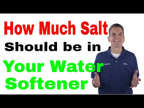 How Much Salt Should be in Your Water Softener