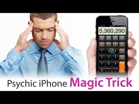 Simple & Easy PSYCHIC MAGIC TRICK Tutorial using iPhone, iPod, iPad