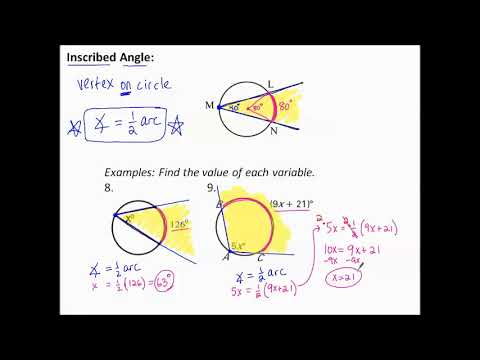 11.3f Inscribed Angles