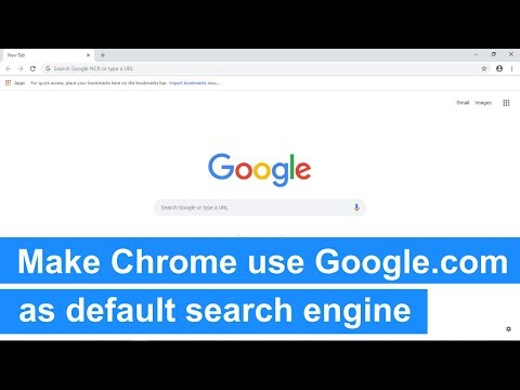 How to make Google Chrome use google.com as default search engine (step-by-step)