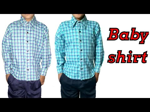How to cut and stitch Baby shirt