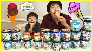 Download ICE CREAM CHALLENGE!! BEN & JERRY'S 20 FLAVORS Guess the flavor Taste test Funny ! Video