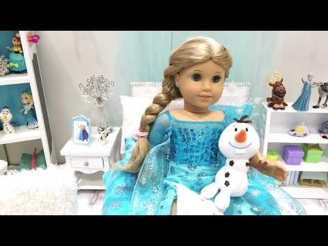Disney Frozen Elsa Bedroom for American Girl Doll