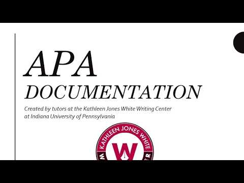 IUP APA Style for Research Papers