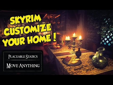 Skyrim Remastered HOW TO FULLY CUSTOMIZE YOUR HOME! (Placeable Statics Mod)