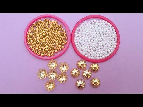 Making Beautiful Antique Pearl Drop Earrings At Home | DIY | How To Make Pearl Earrings|uppunutihome