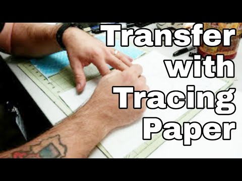 Transfer using tracing paper