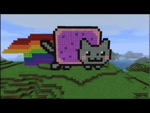 Minecraft Speed Build: Nyan Cat