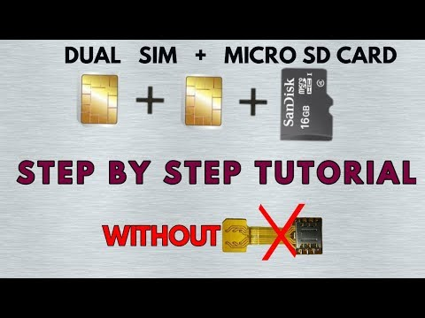 HOW TO USE DUAL SIM AND MICRO SD CARD  SAME TIME IN ANY ANDROID SMARTPHONE WITH HYBRID SLOT