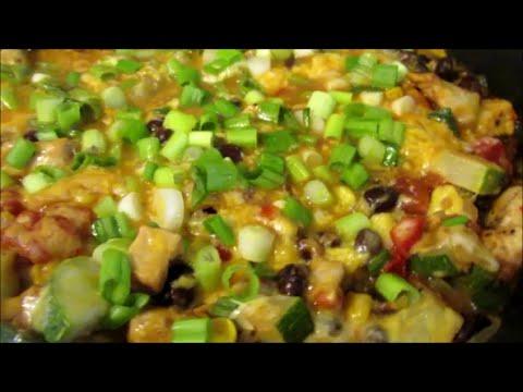 One Pan Skinny Tex Mex Chicken and Zucchini