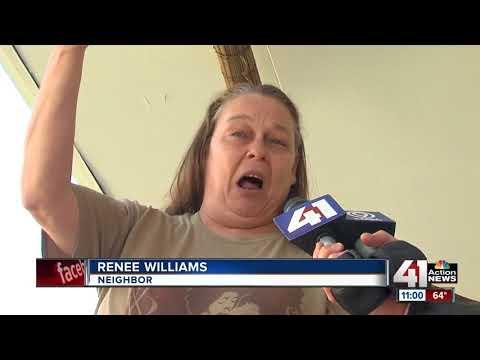 Neighbors react at scene of double homicide