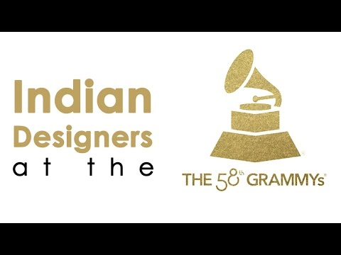 Indian Designers At The 58th Grammys, 2016