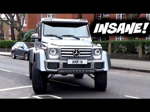 DRIVING NEW MERC 4x4² TANK AROUND LONDON!!