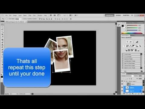 Photo collage effect tutorial - photoshop cs5