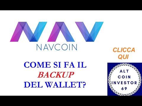 ► NAVCOIN 03: COME SI FA IL BACKUP DEL WALLET PASSO PASSO? #ACI69  #VIDEORIPETIZIONI