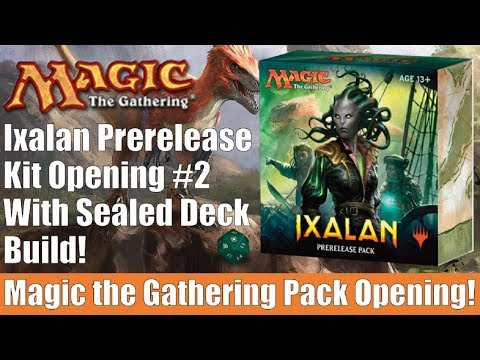 MTG Ixalan Prerelease Kit Opening #2 With Sealed Deck Build!