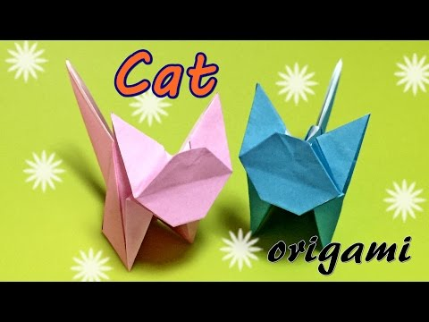 Awesome origami cat | How to make a paper cat | Origami cat easy with one piece of paper