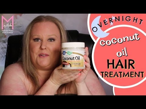 Coconut oil overnight HAIR treatment (M by Mickie)