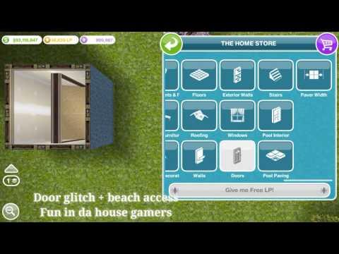 door glitch + beach access Sims freeplay