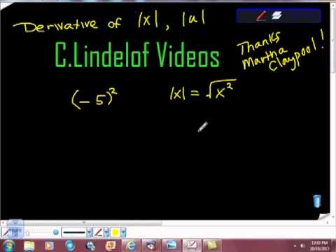AP Calculus AB Derivative of an Absolute Value Function