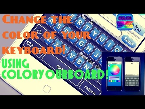 How to change your keyboards color on you iphone/iPod/iPad (ios7/jailbreak)