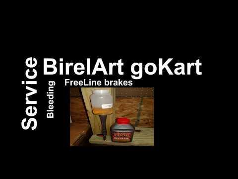 Birel Art goKart bleeding brakes