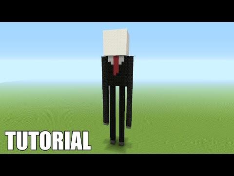Minecraft Tutorial: How To Make A SLENDERMAN ENDERMAN!!