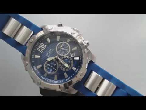 Men's Blue Guess Chronograph Bold Sports Watch U0167G3