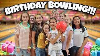 BOWLING BIRTHDAY PARTY!!!  Evan Got Scammed at the Arcade!  Jillian's 11th Birthday Present Haul!