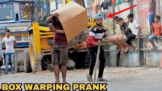 BOX WARPING PEOPLE PRANK IN INDIA || MOUZ PRANK