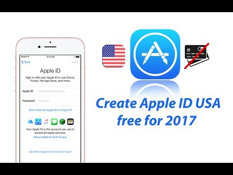 Create Apple ID US store without credit card