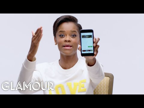 Black Panther's Letitia Wright Shows Us the Last Thing on Her Phone | Glamour