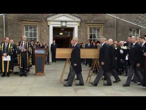 Richard III Leaving the University of Leicester - FULL CEREMONY