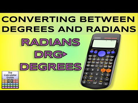 Convert between degrees and radians - DRG button - Casio Calculator fx-83GT fx-85GT PLUS Changing