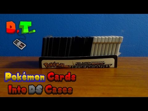 How To Turn A Pokémon Card Into a Nintendo DS Game Case (Stores 22 Games)