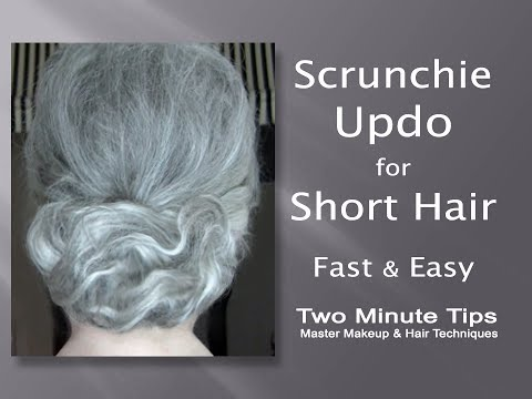Updo with Scrunchie for Short Hair - Fast & Easy