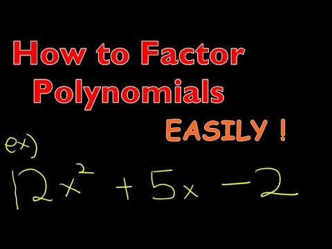 Math Algebra - How to Factor Polynomial Easily with speical method