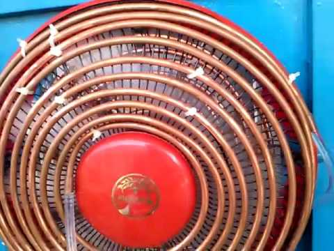 Homemade Air Conditioner DIY Copper Coil Air Cooler